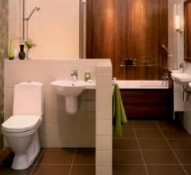 Совмещенные ванна и туалет