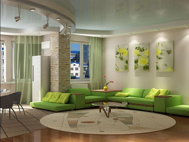 Необычный дизайн гостиной комнаты