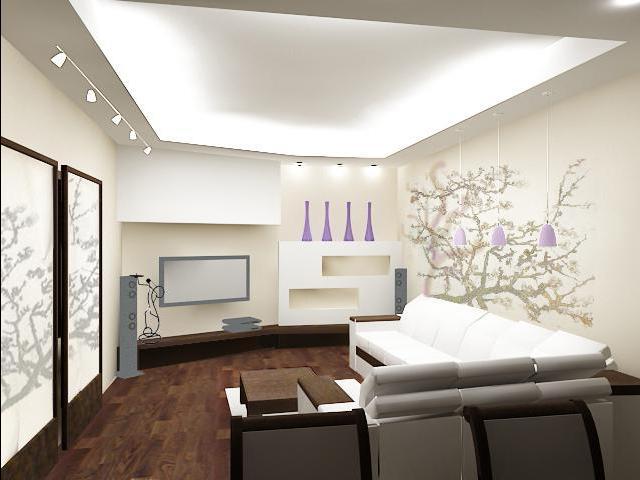 Оригинальный дизайн гостиной