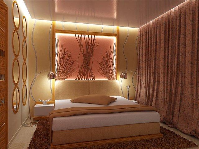 Освещение в спальне: способы организации