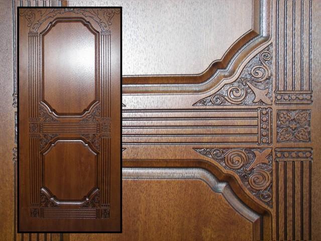 Преимущества дверей из шпона